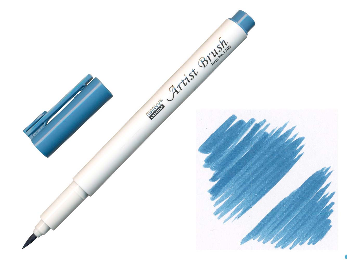 Štětcový fix - MARVY STEEL BLUE ARTIST BRUSH | ♥ DITIPO.cz
