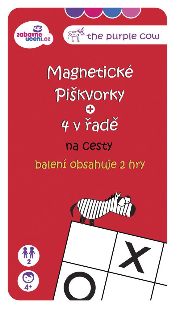 7f61632bf7b The Purple Cow Magnetická hra Piškvorky - na cesty