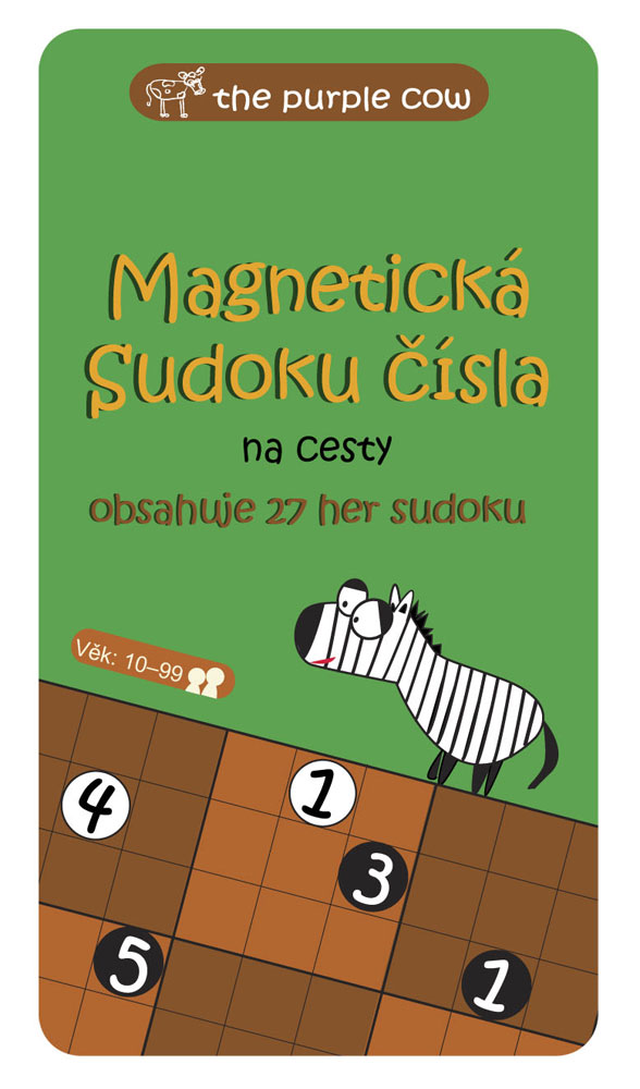 9120bca1459 The Purple Cow Magnetická hra Sudoku čísla - na cesty